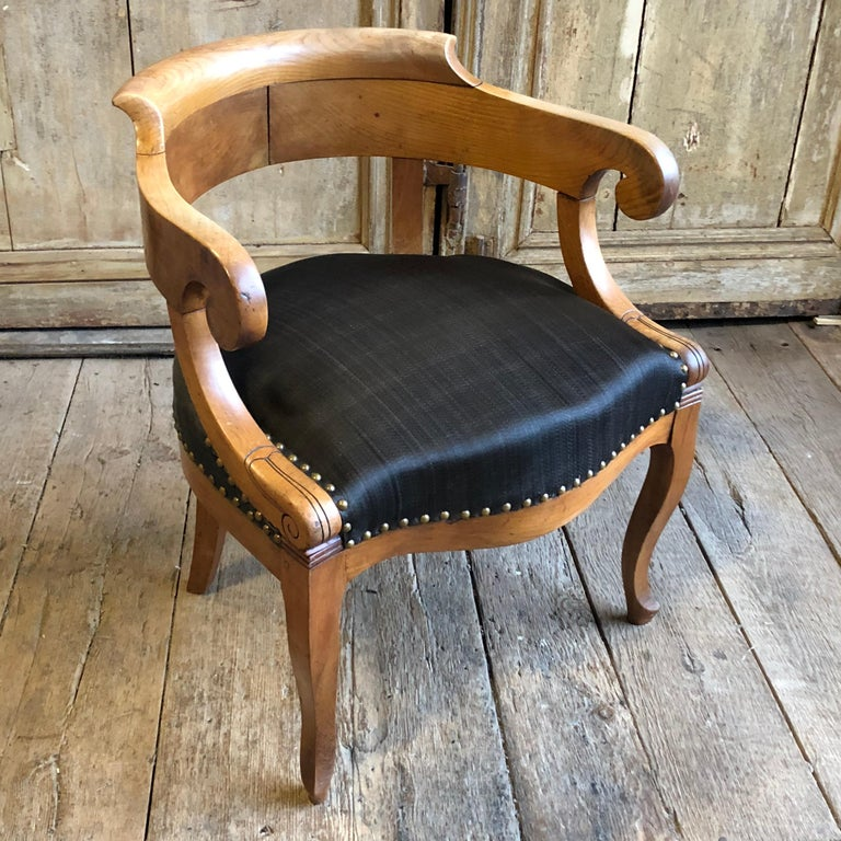 Charles X Desk Chair, 1820s For Sale 5