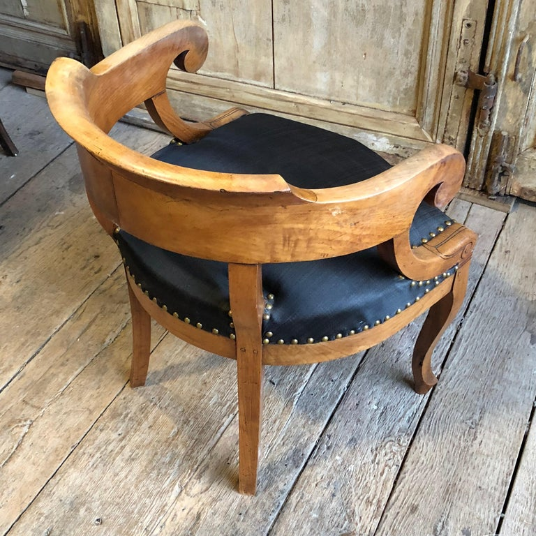 Charles X Desk Chair, 1820s For Sale 6