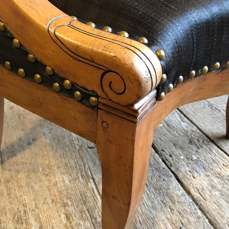 Charles X Desk Chair, 1820s For Sale 7