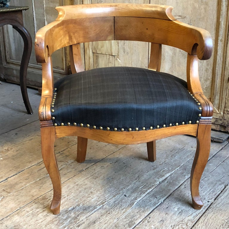 19th Century Charles X Desk Chair, 1820s For Sale