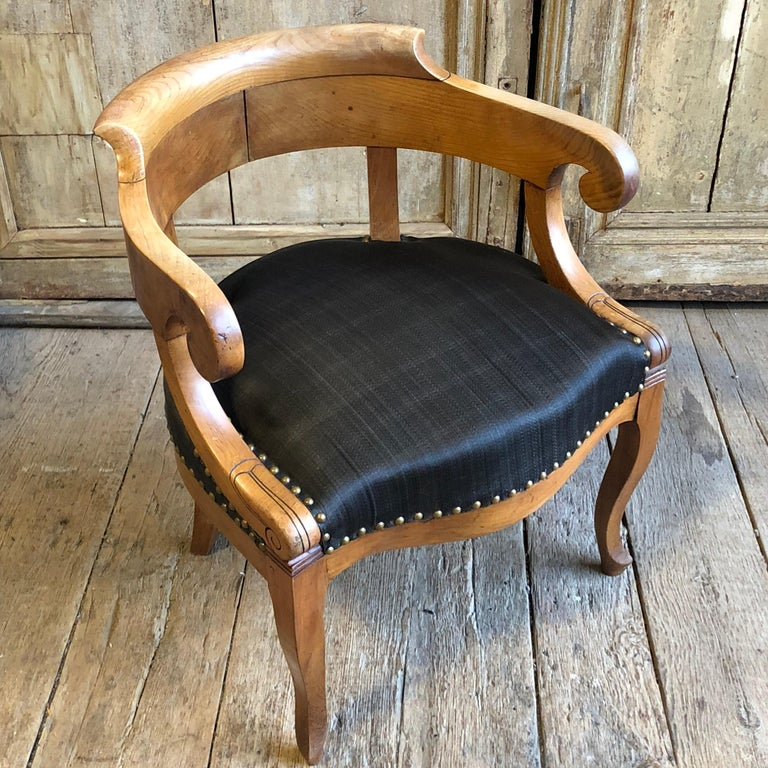 Charles X Desk Chair, 1820s For Sale 2