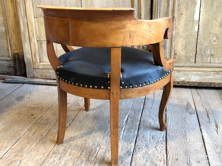 Charles X Desk Chair, 1820s For Sale 3