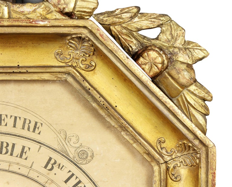 French Charles X-Giltwood Barometer For Sale