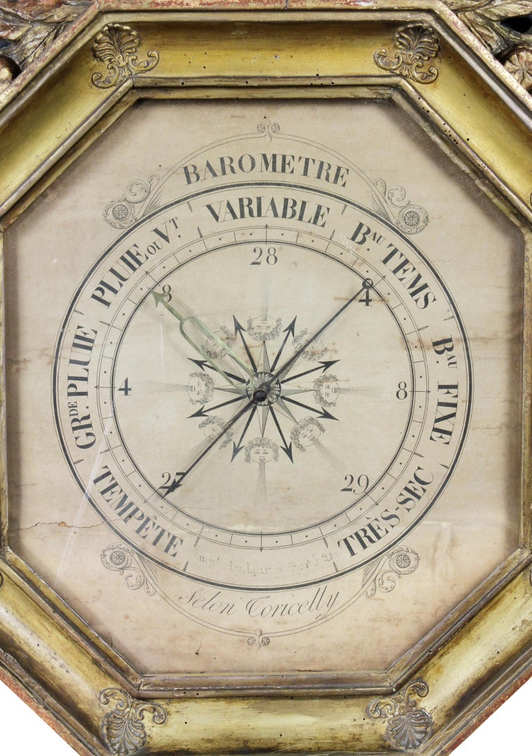 Charles X-Giltwood Barometer In Good Condition For Sale In Essex, MA
