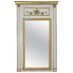 Charles X Grisaille and Giltwood Overmantle Mirror