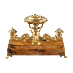 Charles X Inkwell with Mermaid Decoration