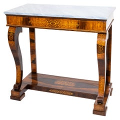 Charles X Mahogany Console Table, France, First Half of the 19th Century