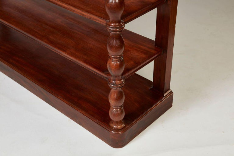 Turned Charles X Mahogany Four-Tier Serving Étagère For Sale