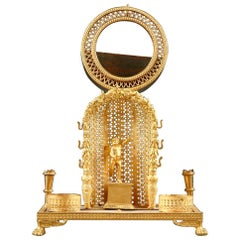 Charles X Mother of Pearl and Ormolu Watch Holder and Inkwell