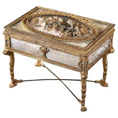 Charles X Ormolu and Mother of Pearl Jewelry Box