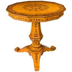 Charles X Period Satin Birch Centre Table