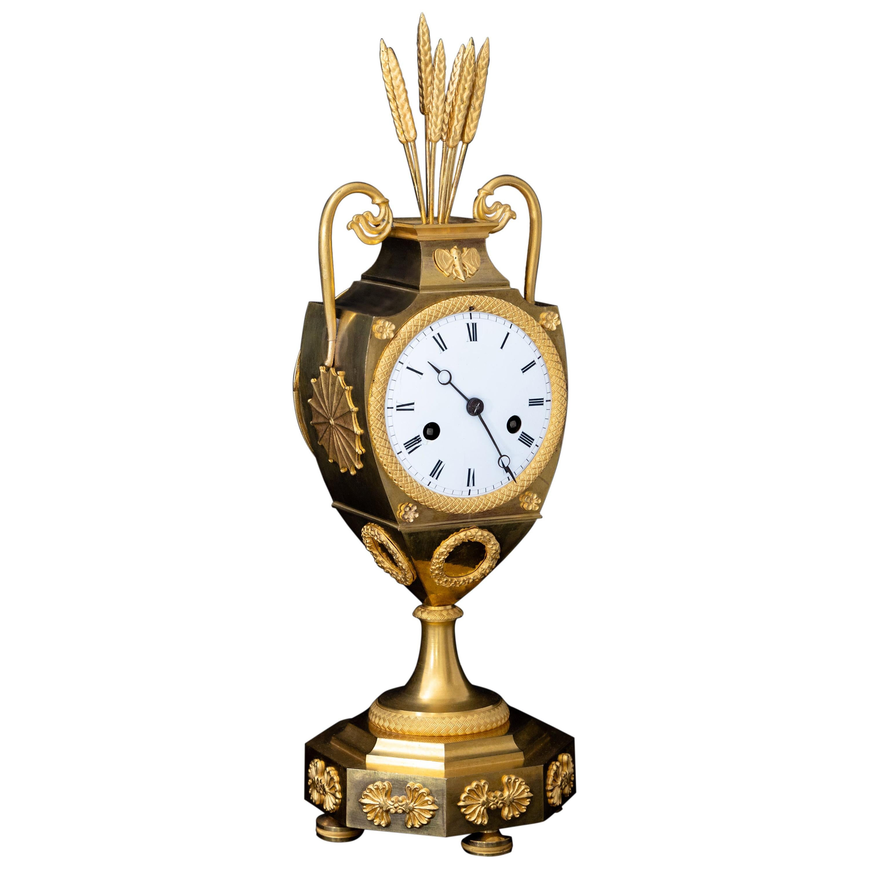 Charles X Vase Pendule Clock, France, 1830s