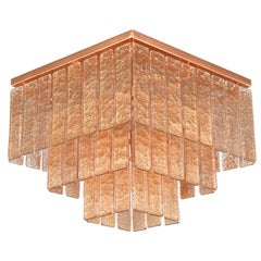 Ceiling Light Copper Glass Listels Copper Fixture Charleston by Multiforme