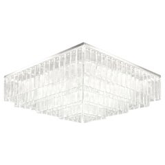 Square Ceiling Light Murano Glass Listels Brushed Nickel Charleston Multiforme