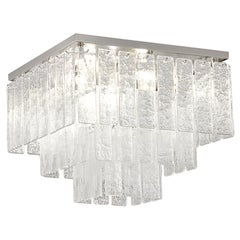 Ceiling Light Silver Murano Glass Listels Nickel finish - Charleston Multiforme
