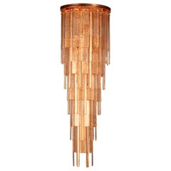 Charleston Ceiling Light with Copper Glass Listels by Multiforme