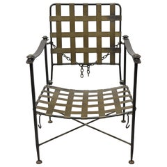 Charleston Forge Arts & Crafts Gothic Heavy Wrought Iron Adjustable Lounge Chair