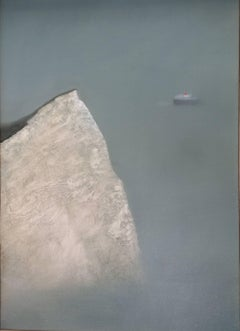 Charlie Baird, Cliff, Original Landscape Painting, Seascape Art, Affordable Art