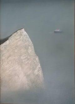 Cliff, Original Landscape Painting, Seasape Art, Contemporary Art