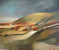 Edge, oil painting landscape, West Country landscape with earth tones