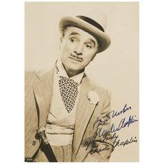 Charlie Chaplin 1947 Signed Photograph as Monsieur Verdoux Black and White