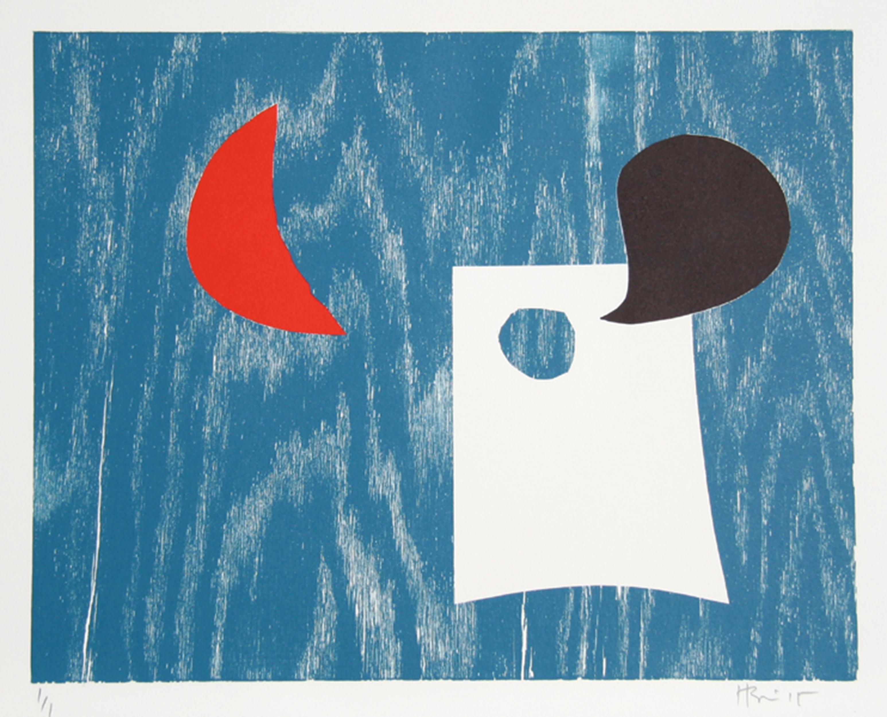 Abstract Monoprint by Charlie Hewitt