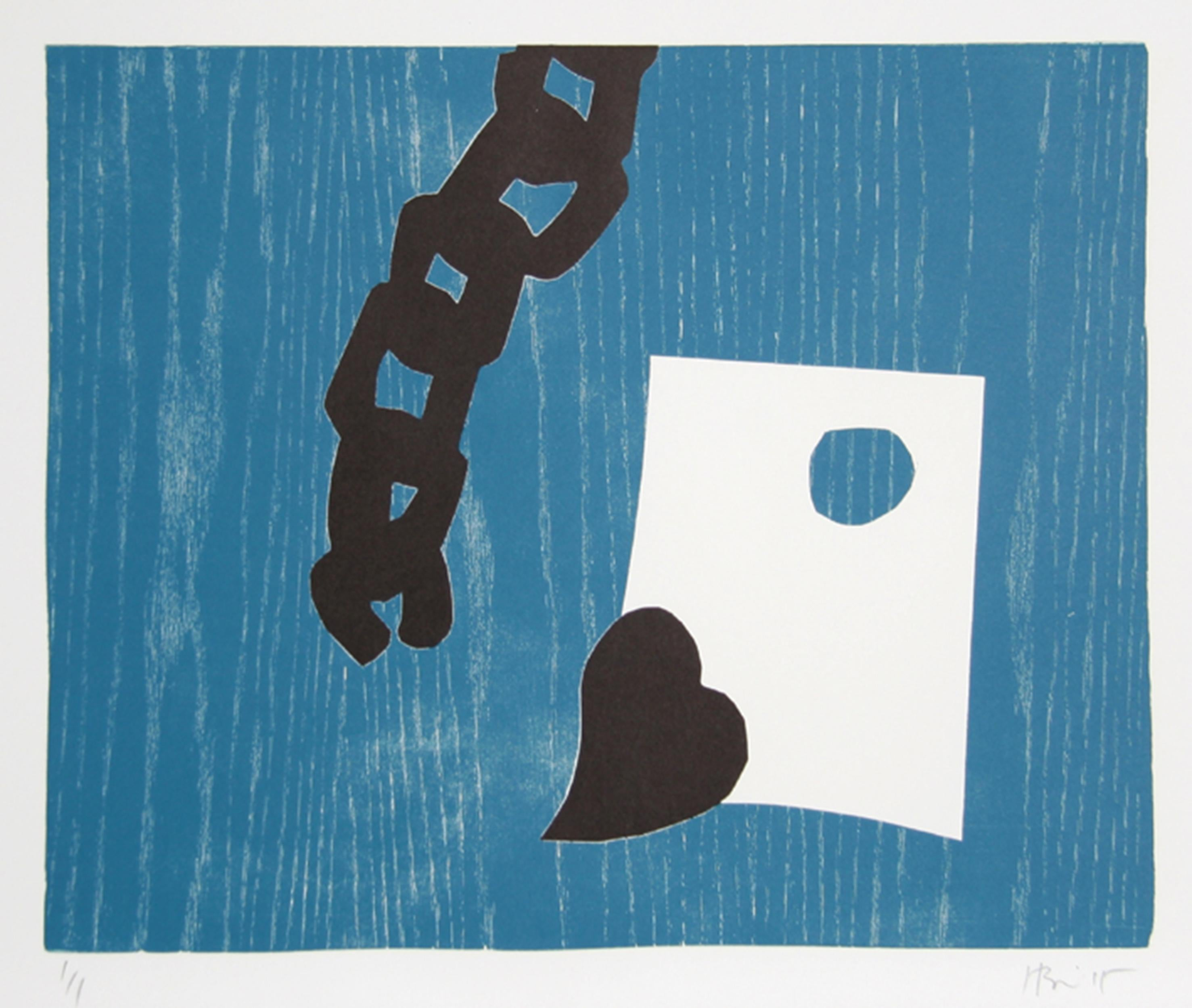 Abstract Monoprint Woodcut by Charlie Hewitt
