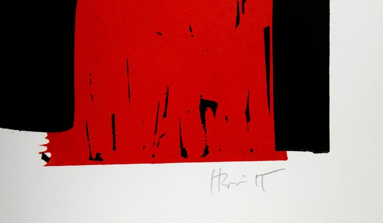 Untitled Abstract Woodcut by Charlie Hewitt For Sale 1