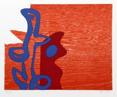 Untitled Abstract, Woodcut by Charlie Hewitt