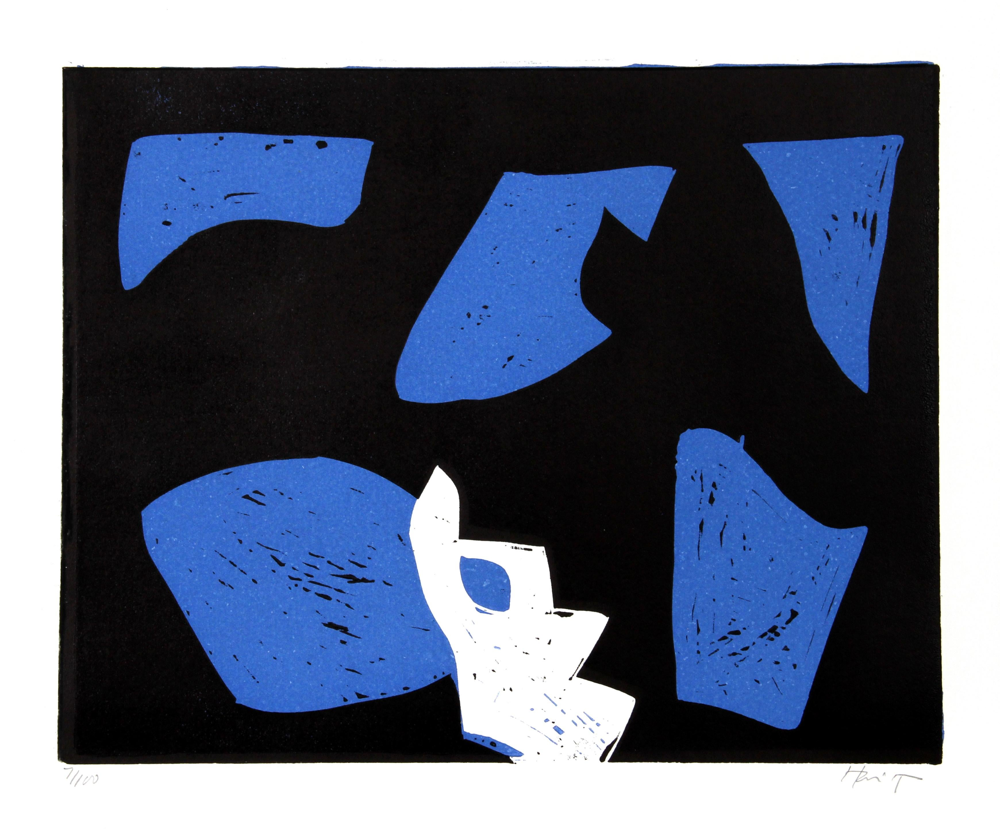 Untitled Abstract Woodcut by Charlie Hewitt