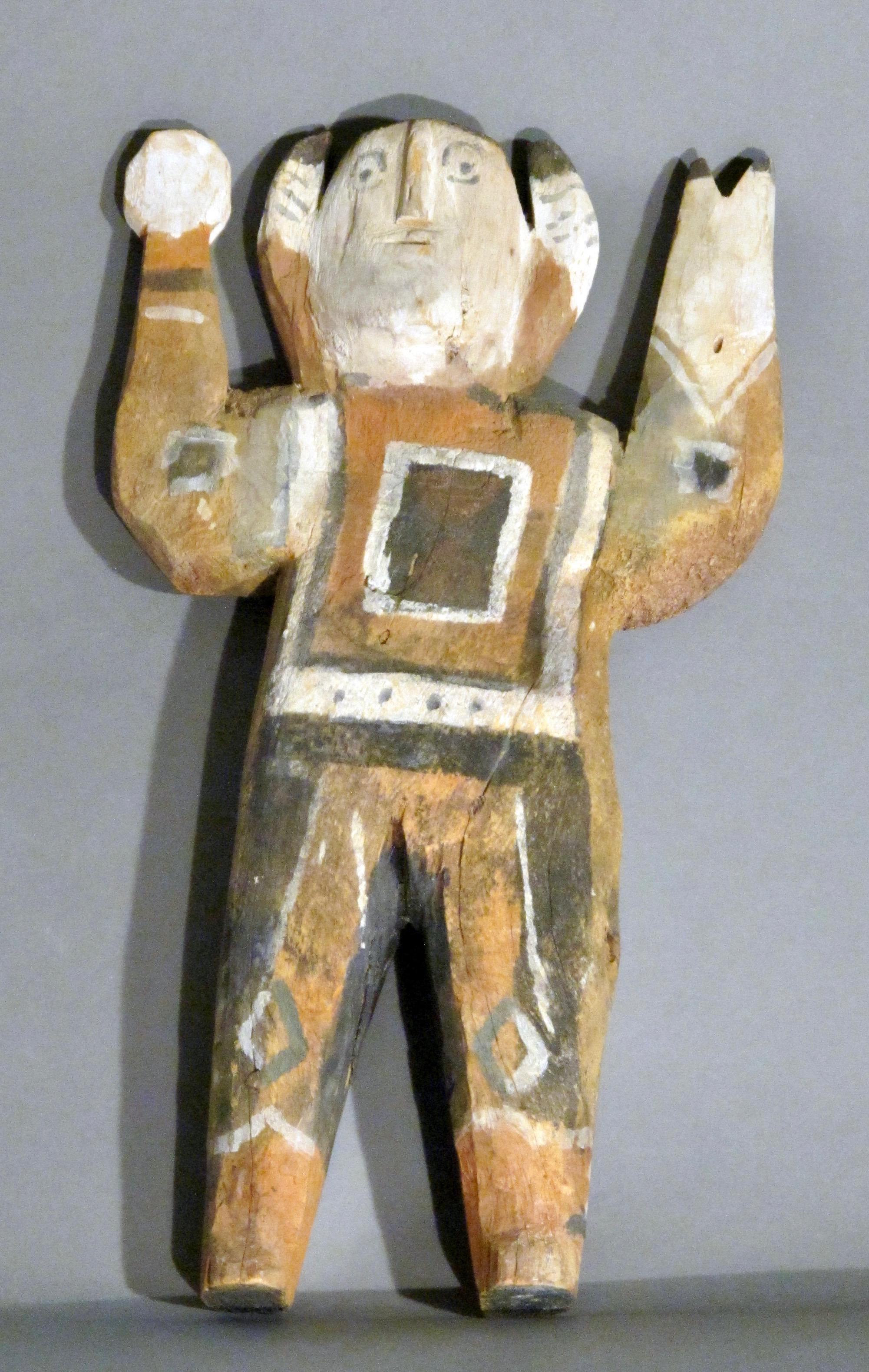 Untitled figure by Charlie Willeto, Navajo folk art, wood, paint, vintage