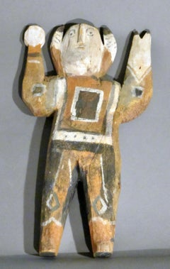 Untitled figure by Charlie Willeto, Navajo folk art, wood, paint, vintage