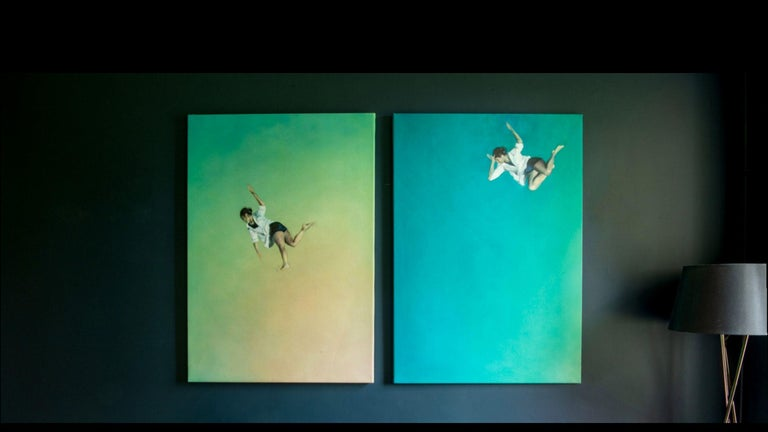 Falling Into The Reverie I - Charlotte Aiken, Abstract, Space, Sublimity, Figure For Sale 1