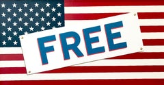 """""""Credo (FREE!)""""  Pop-Art American Flag, Red/White/Blue, Whimsical and Political"""