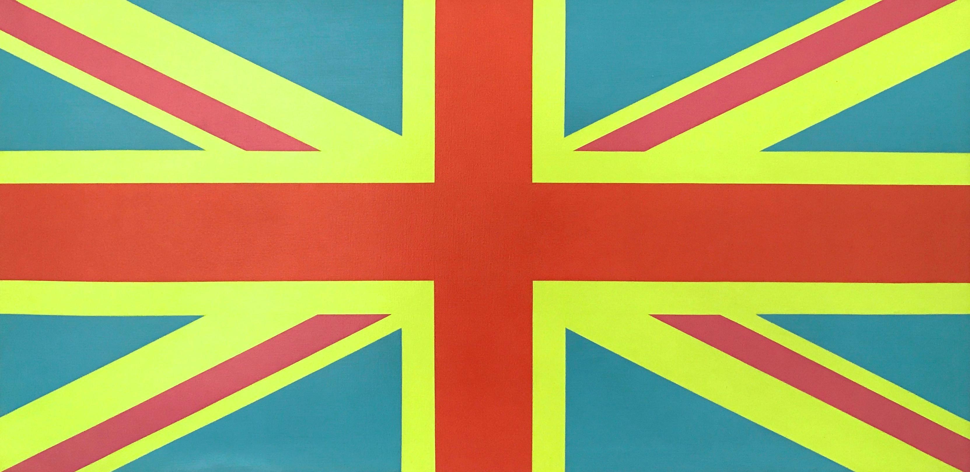 """Sgt. Pepper Jack"" British Flag Union Jack Contemporary Minimal Bright Oil Paint"