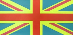 """Sgt. Pepper Jack"" British Flag Union Jack Contemporary Minimal Bright Oil Paint"