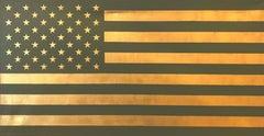"""U.S. Flag (Olive and Gold)""  Pop, Americana,"