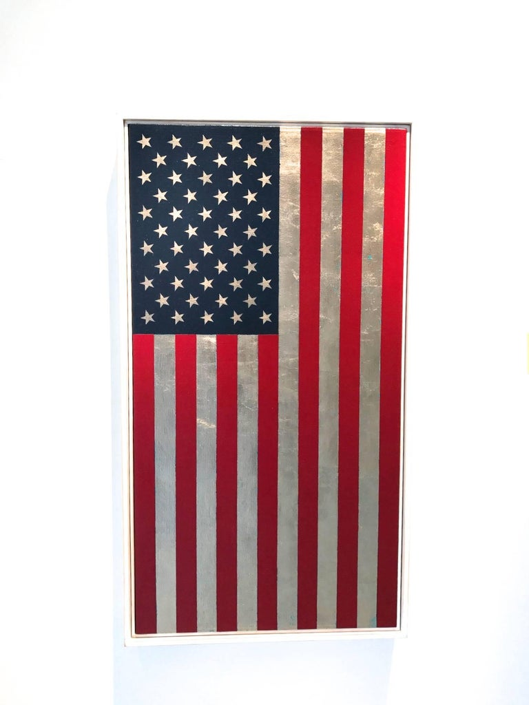 charlotte andry gibbs u s flag vertical painting for sale at 1stdibs