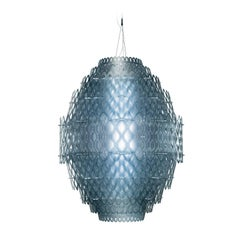 Charlotte Blue Ceiling Lamp by Doriana and Massimiliano Fuksas
