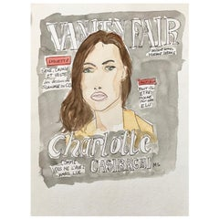 Charlotte Casiraghi in Vanity Fair 'One of a Kind Fashion Painting'