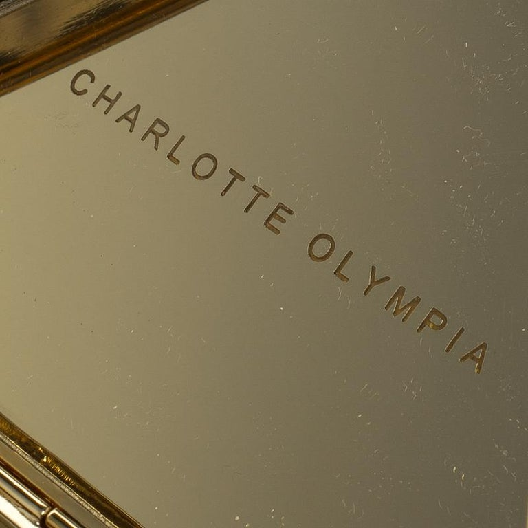Charlotte Olympia Gold Metal Nacho Clutch For Sale 2