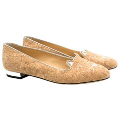 Charlotte Olympia Kitty Cork Loafers SIZE 37