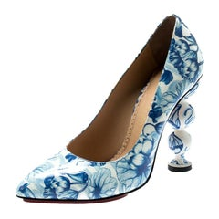 Charlotte Olympia Ming Koi Carp Print Patent Leather Pointed Toe Pumps 35.5