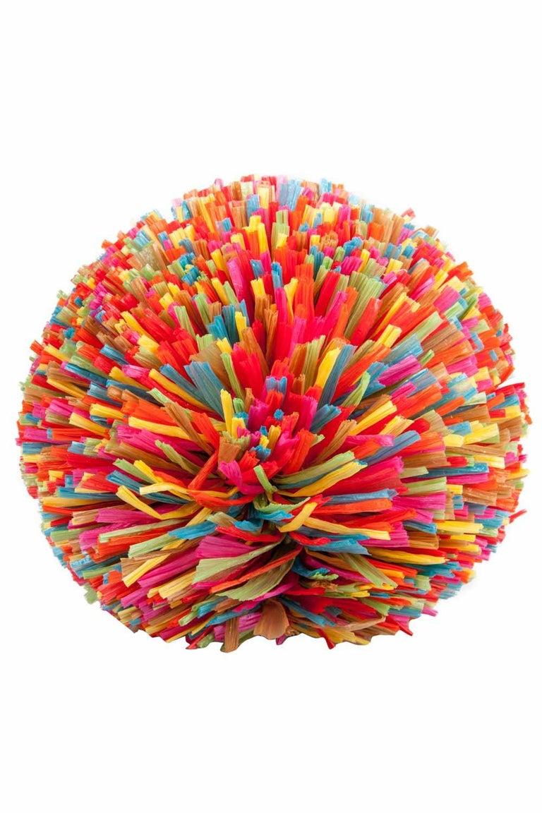 Charlotte Olympia Multicolor Straw and Suede Fiesta Chain Clutch Bag In Excellent Condition For Sale In Dubai, Al Qouz 2