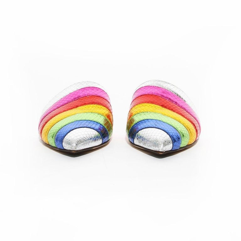 Women's Charlotte Olympia Rainbow Slides For Sale
