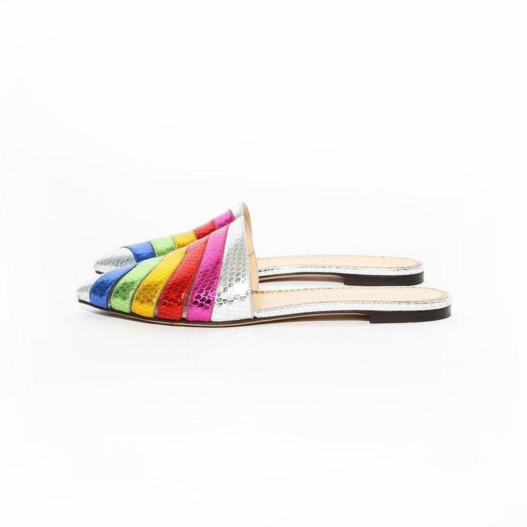 Charlotte Olympia Rainbow Slides For Sale 1
