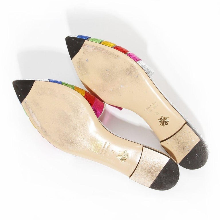 Charlotte Olympia Rainbow Slides For Sale 3