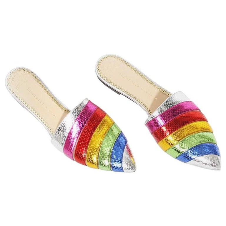 Charlotte Olympia Rainbow Slides For Sale