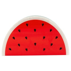 Charlotte Olympia Red & Green Plexi Watermelon Clutch