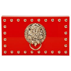 Charlotte Olympia Red Perspex Palace Pandora Box Clutch